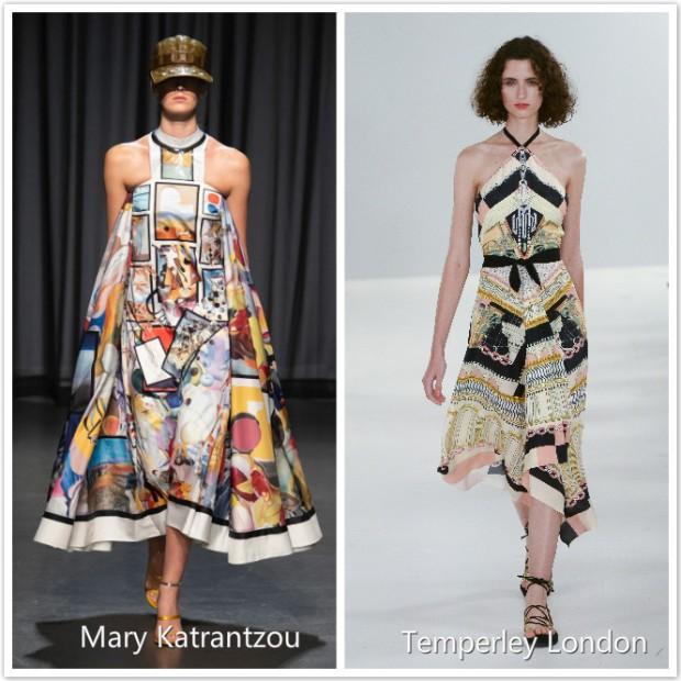 printing fashion dresses in Fashion Week