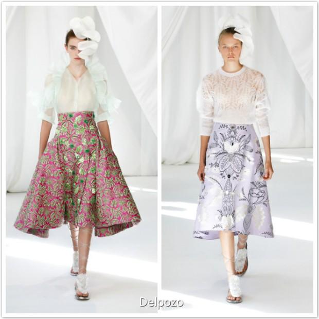 Delpozo fashion dresses