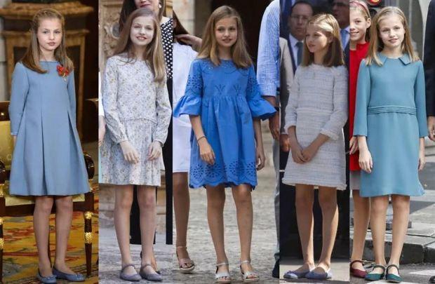 Princess Leonor's blue style dresses