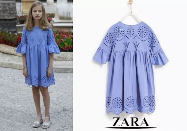 Princess Leonor's blue Zara dress