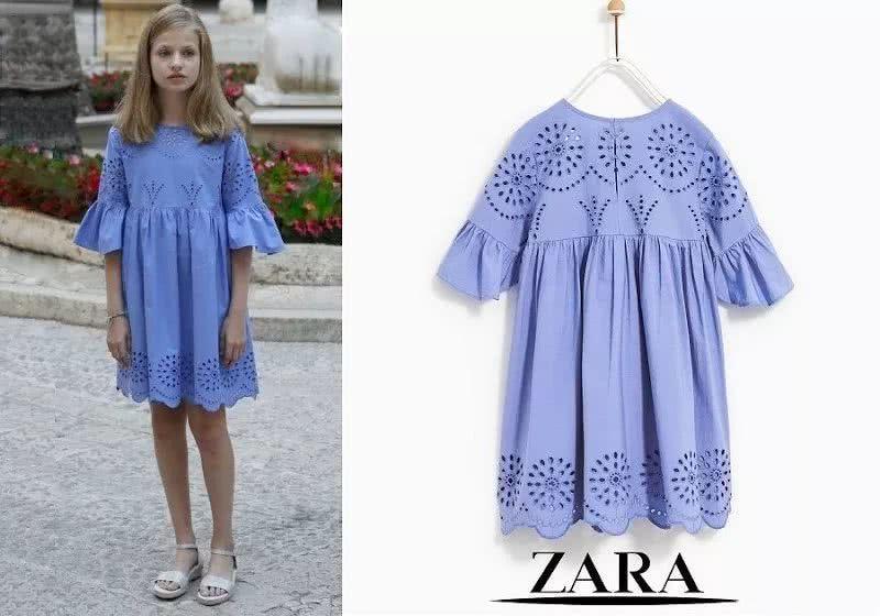 Princess Leonor's blue Zara dress
