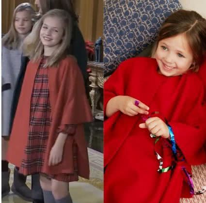 Princess Leonor's red coat