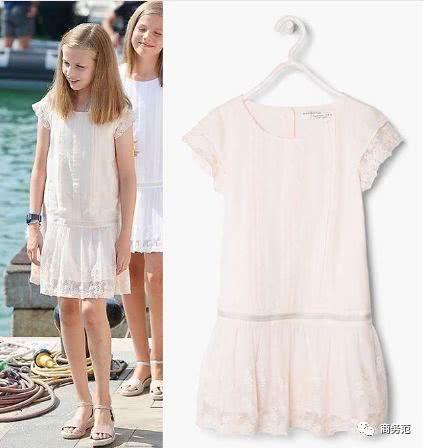 Princess Leonor's white lace dress
