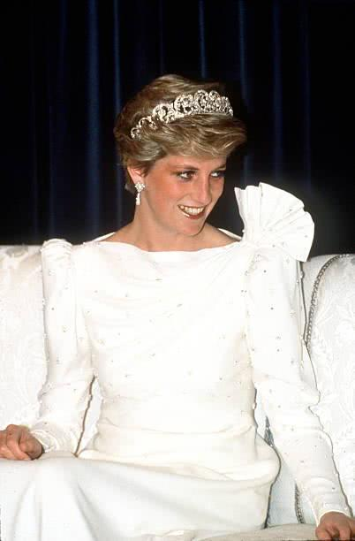 Princess Diana's white dress