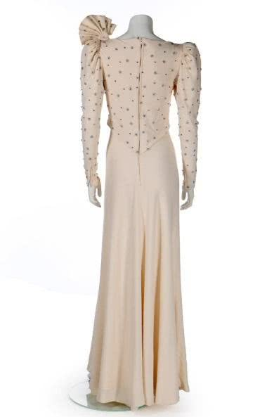 Princess Diana's white long dress