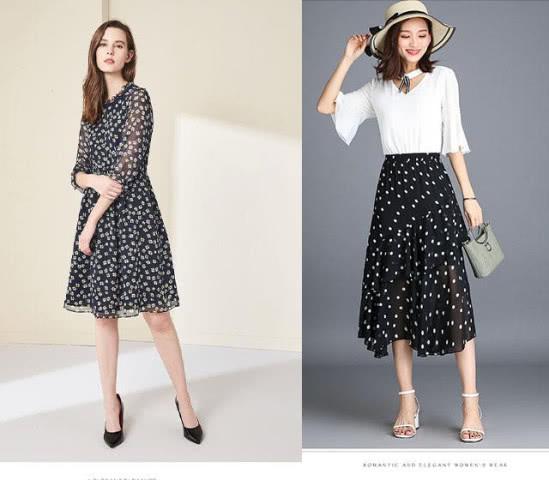 Polka-printed skirt