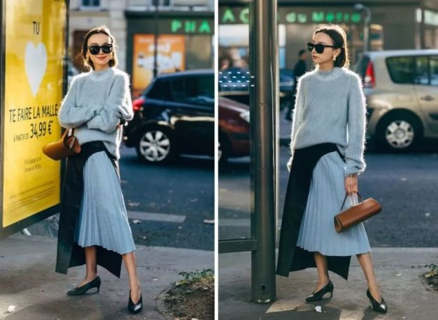 sweater and dress style