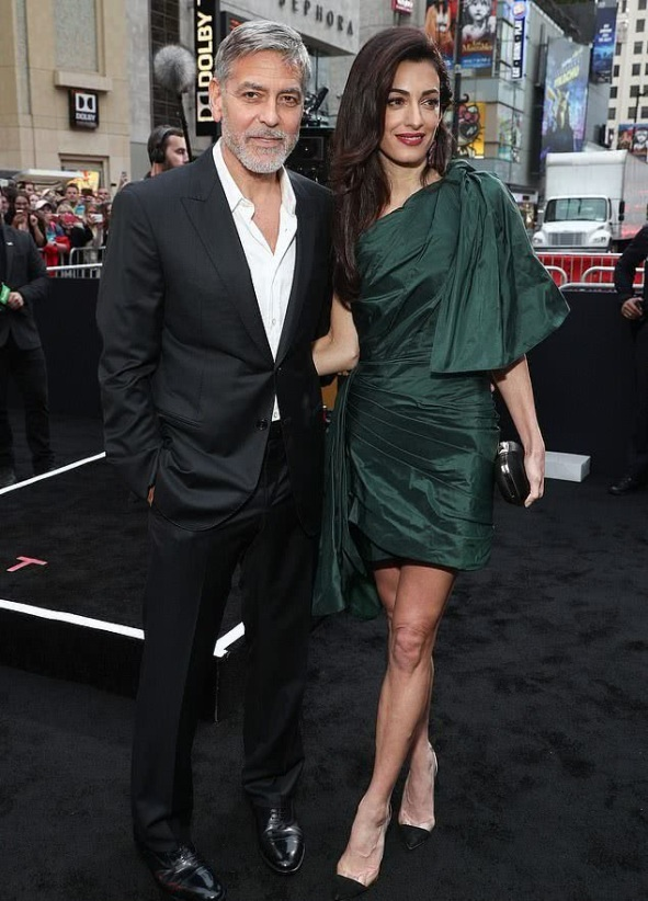 Amal's green short dress