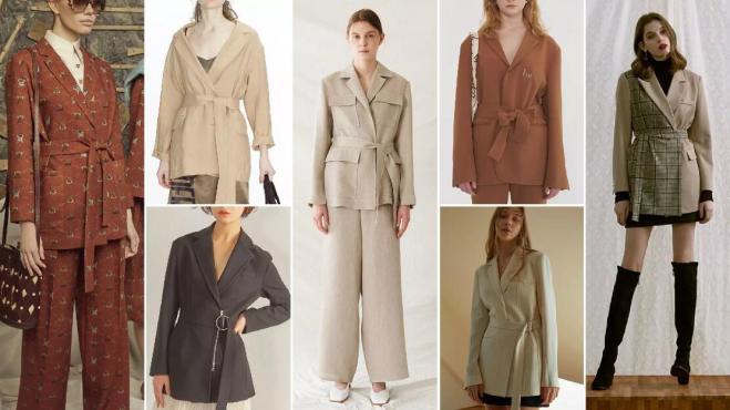 Belted Bathrobe-Style Blazers