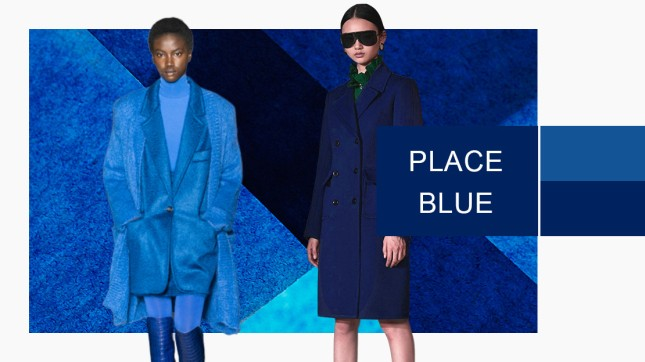 place blue color women's clothing