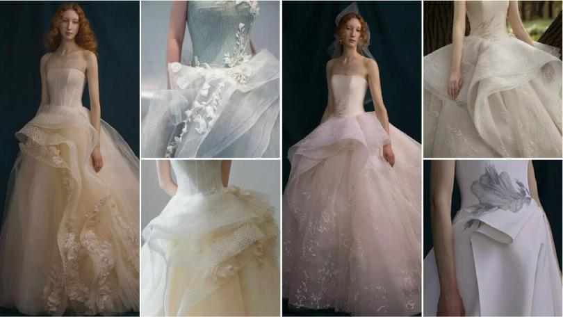 Flowing Ruffles wedding dresses