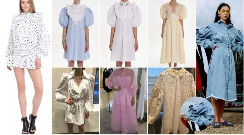 puff sleeves dresses