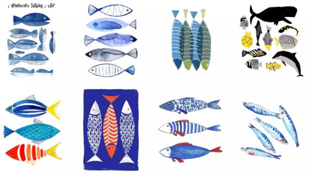 Artistic Fish Drawing