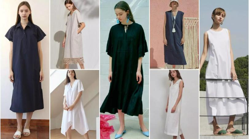 Midi H-Line Cover-Up Dresses