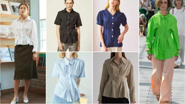 The Nipped-In Pleated Shirt