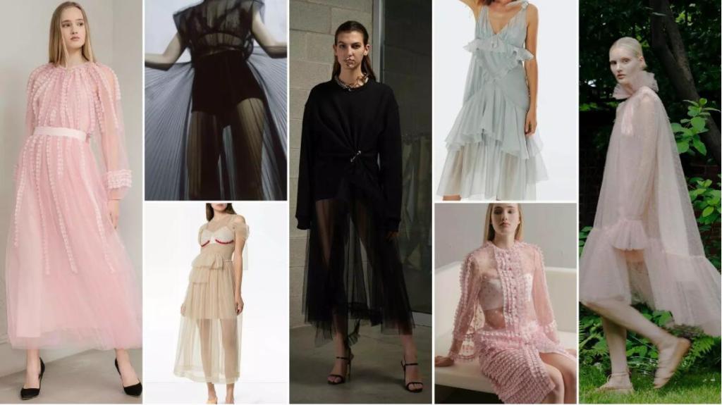 Sheer A-Line Maxidresses
