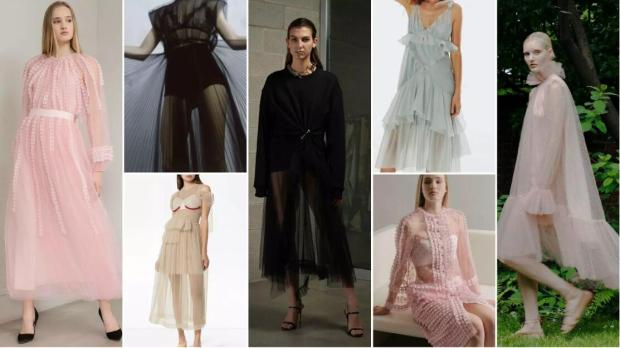 Sheer A-Line Maxidresses