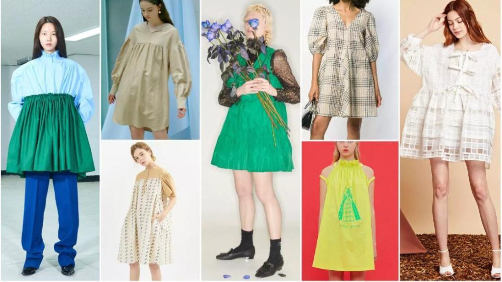 Voluminous Mini A-Line Dresses