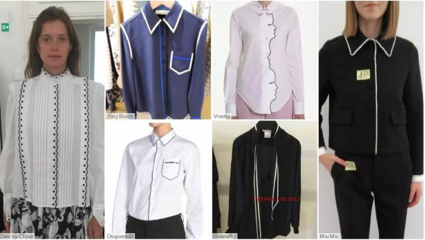 Contrasting Binding fashion shirts