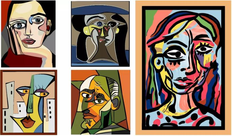Abstract Figures of Picasso Style