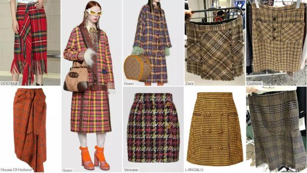 Popular Skirt- The Check Skirt with a Basic Silhouette