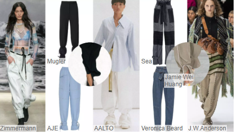 Gathered-Ankle Trousers