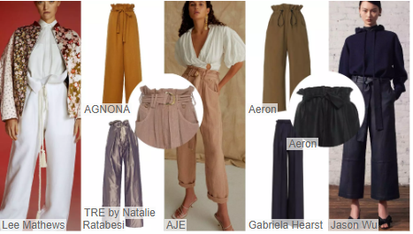 Waisted Straight-leg Trousers