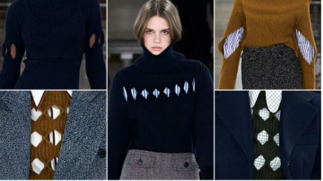 Negative Space Rhomboid Knitting