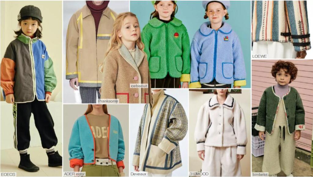 Contrast-Colored Edge kidswear